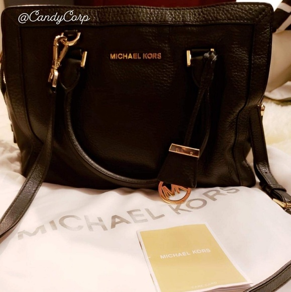 Michael Kors Handbags - MICHAEL KORS Pebbled Leather Satchel (M size)